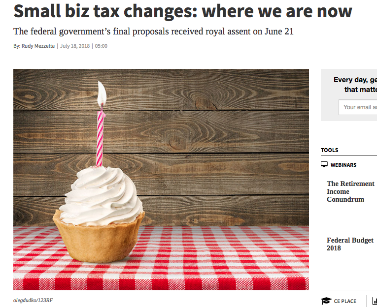 Private Corporation Tax Changes to Small Business